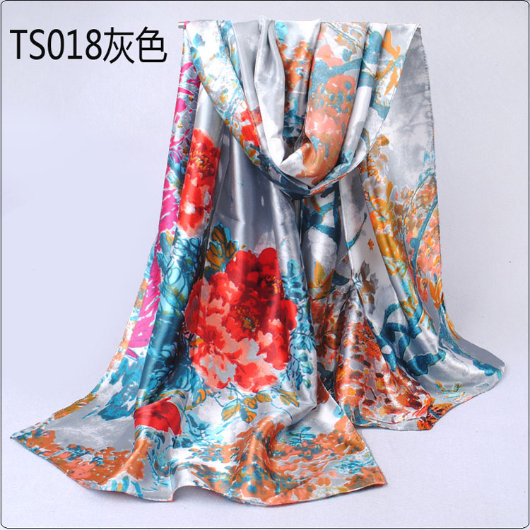 wisteria printed silk scarves wholesale china scarf