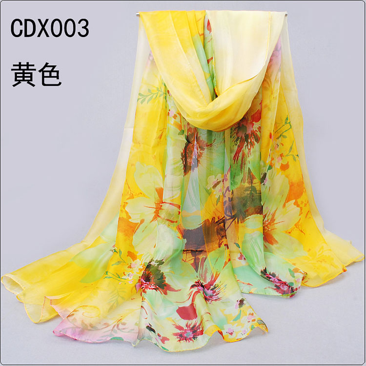 sunflower printed scarves wholesale china scarf