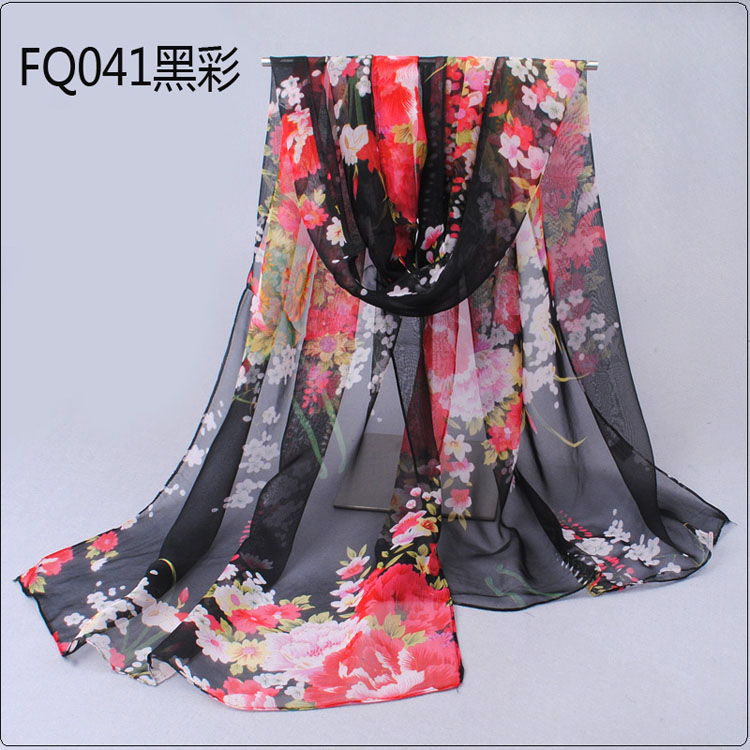 wholesale fresh flowers printed scarves china scarf