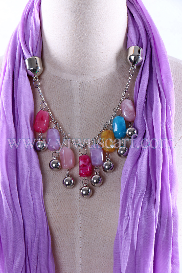 Factory stone pendant scarf wholesale