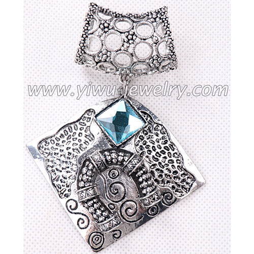 Square blue gemstone jewelry accessories pendant