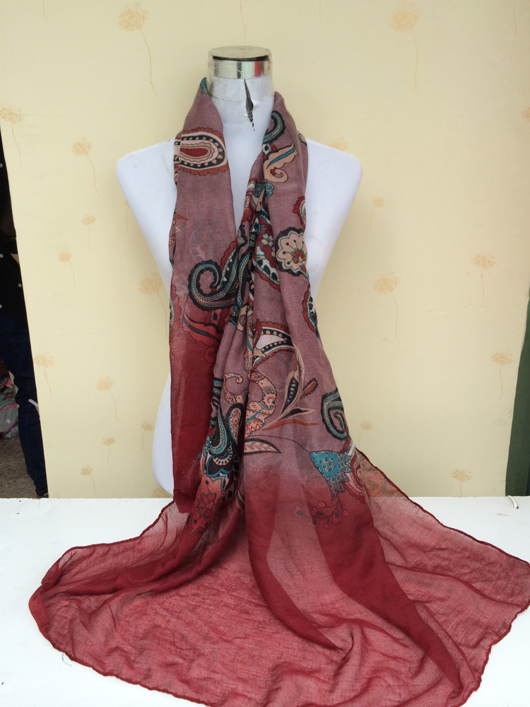 European flowers stitching scarves wholesale