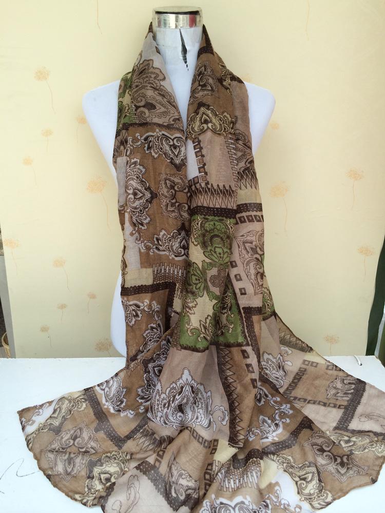 plaid peony printed scarves wholesale china scarf