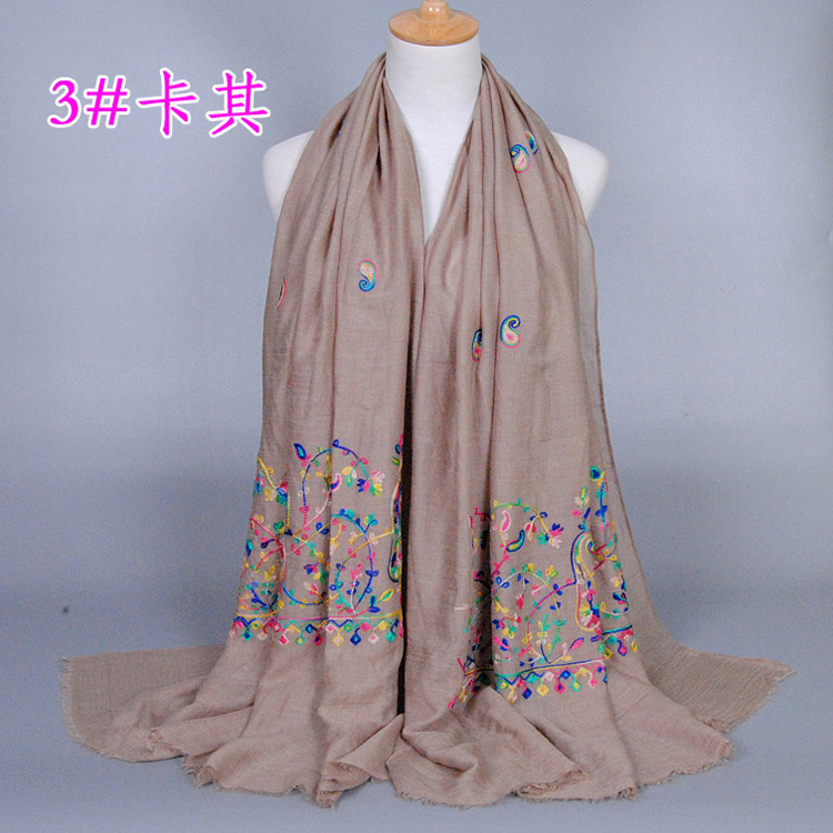 Embroidered floral scarf wholesale