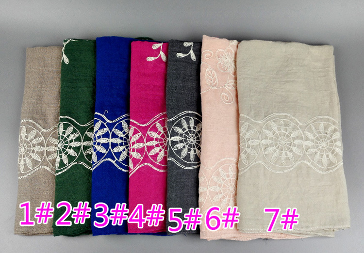 Cotton embroidered scarf wholesale