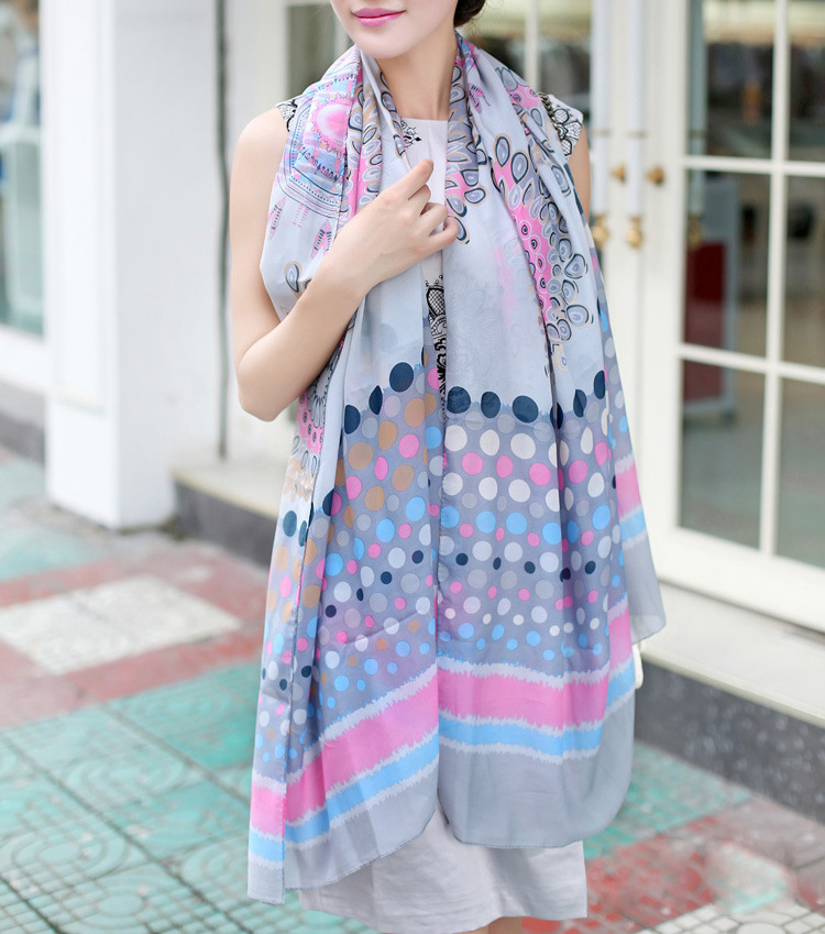 wholesale floral chiffon scarves china scarf