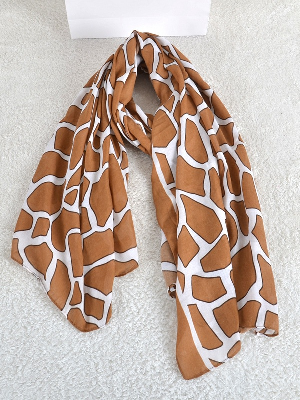 Cotton leopard scarf wholesale