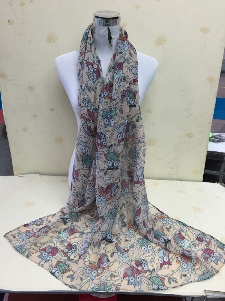 Cartoon voile scarves wholesale