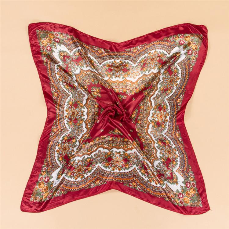 printed square silk scarf wholesale china scarf