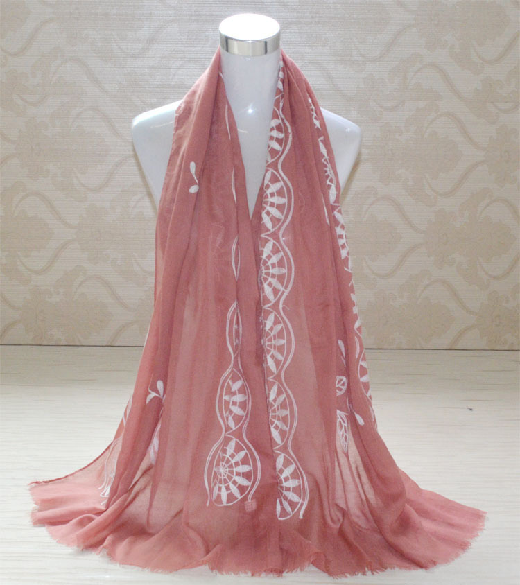 embroidered cotton scarves wholesale china scarf