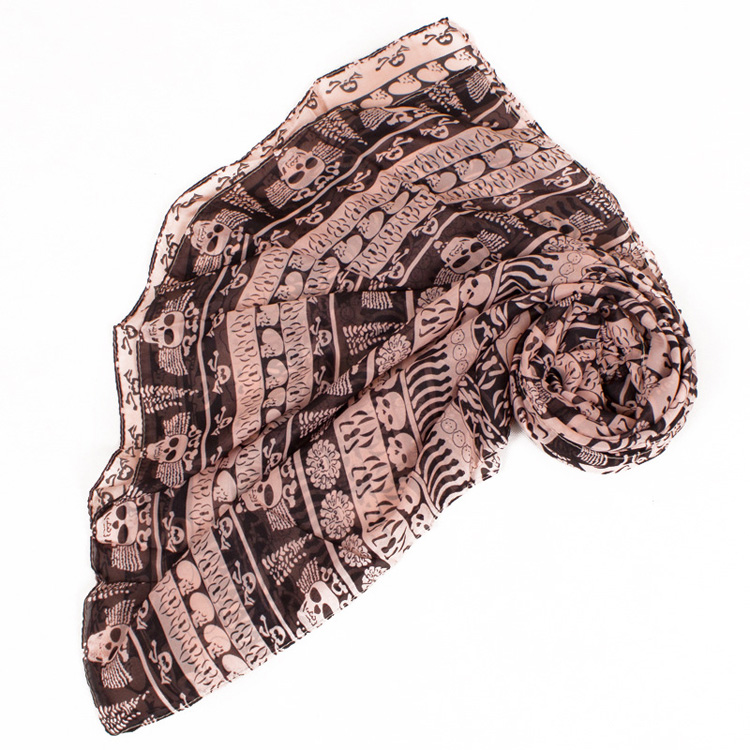 wholesale skull chiffon scarf china scarf