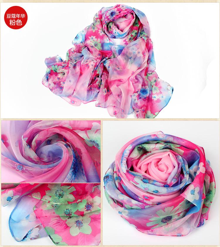 wholesale chiffon printed silk scarf china scarf