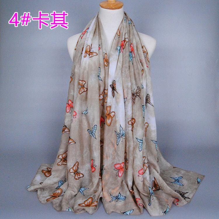 wholesale cotton scarf butterfly china scarf