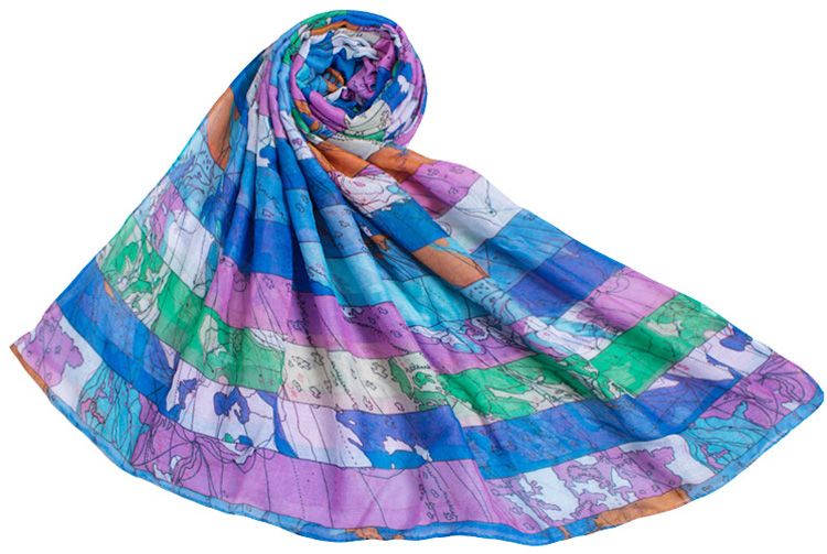 map printed scarves wholesale china scarf