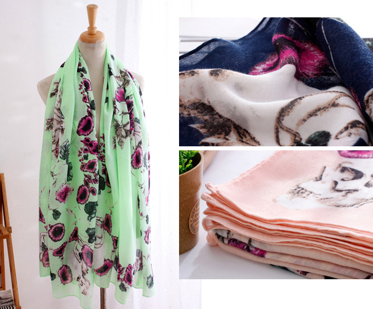 wholesale cotton skull scarf china scarf