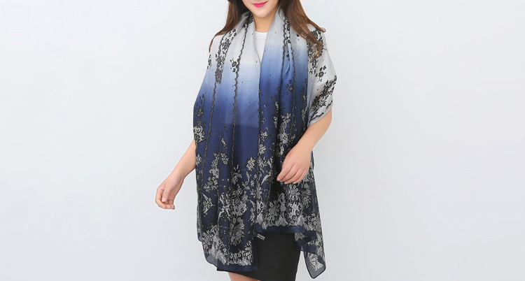Butterfly print scarf wholesale