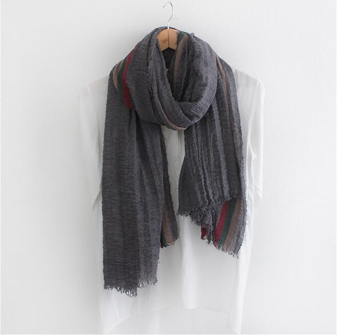 color elastic fold cotton scarf wholesale china scarf