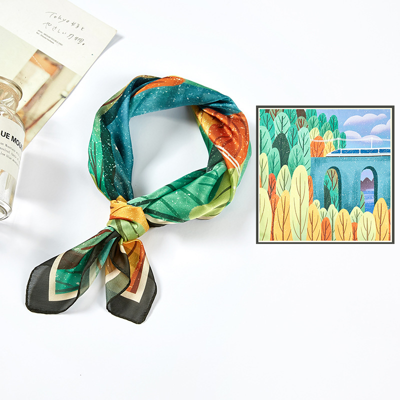 60cm square scarf mulberry silk scarf