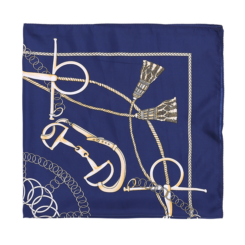 Belt buckle silk scarf wholesale square scarf