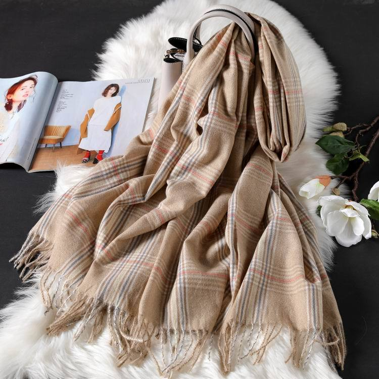 plaid cashmere scarves for women