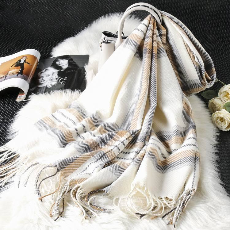 New cashmere plaid scarf