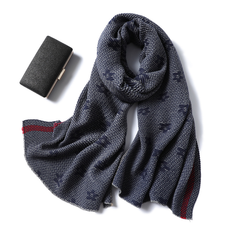 Flower double side cashmere scarf
