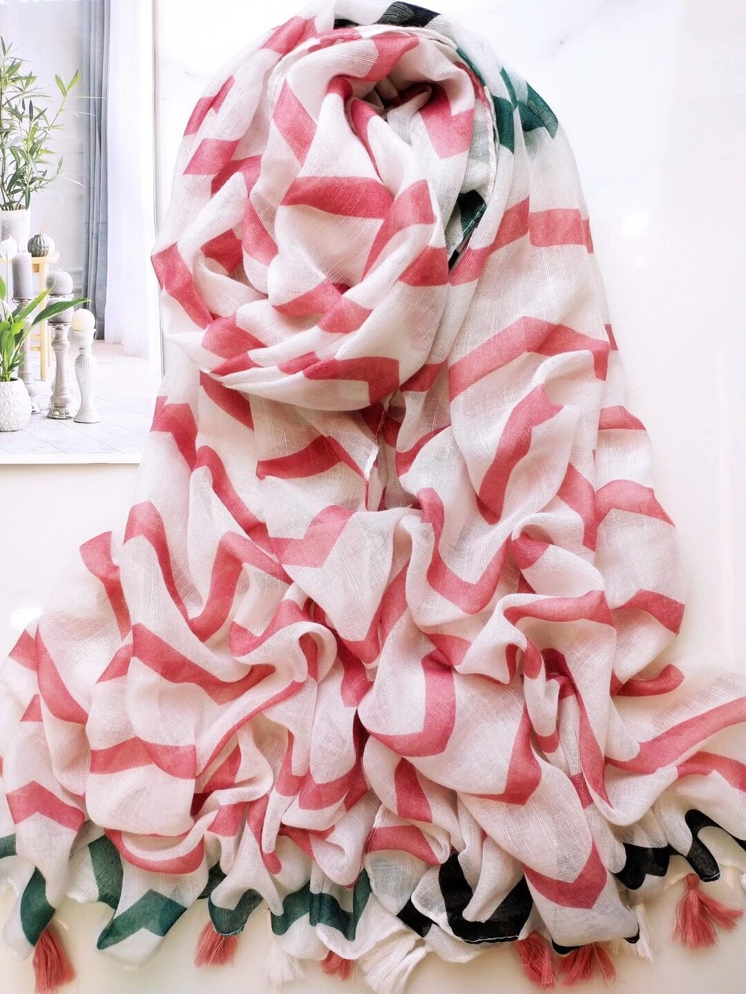 Wholesale long cotton shawl scarf