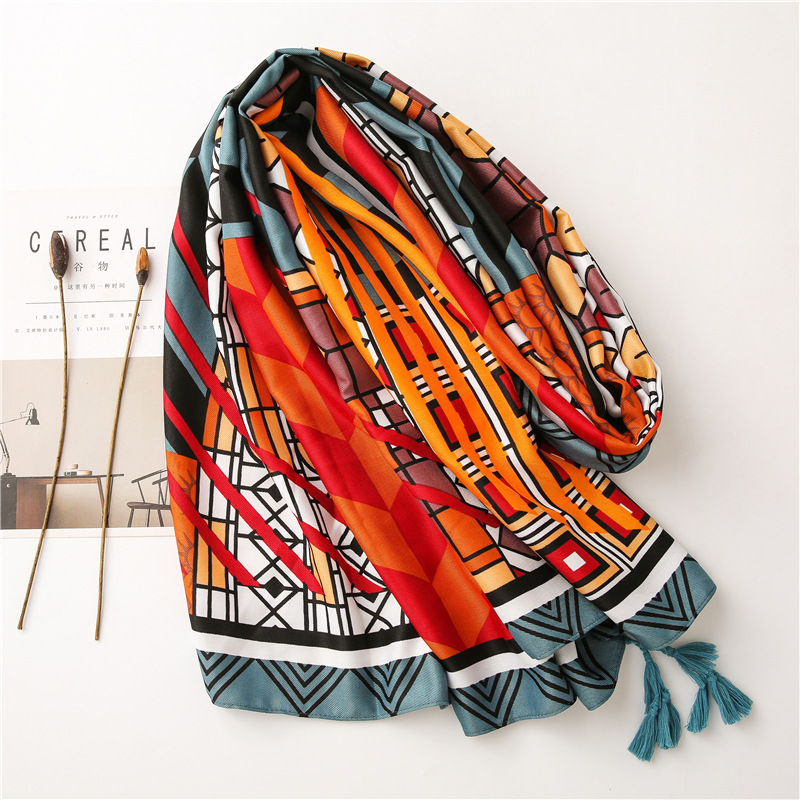Thickened twill printed cotton shawl wholesale