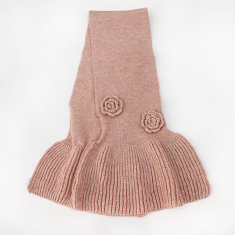 Cross Rose Carved Knit Scarf Wholesale