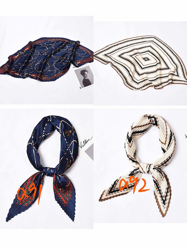 Wholesale pleated office silk scarf uk