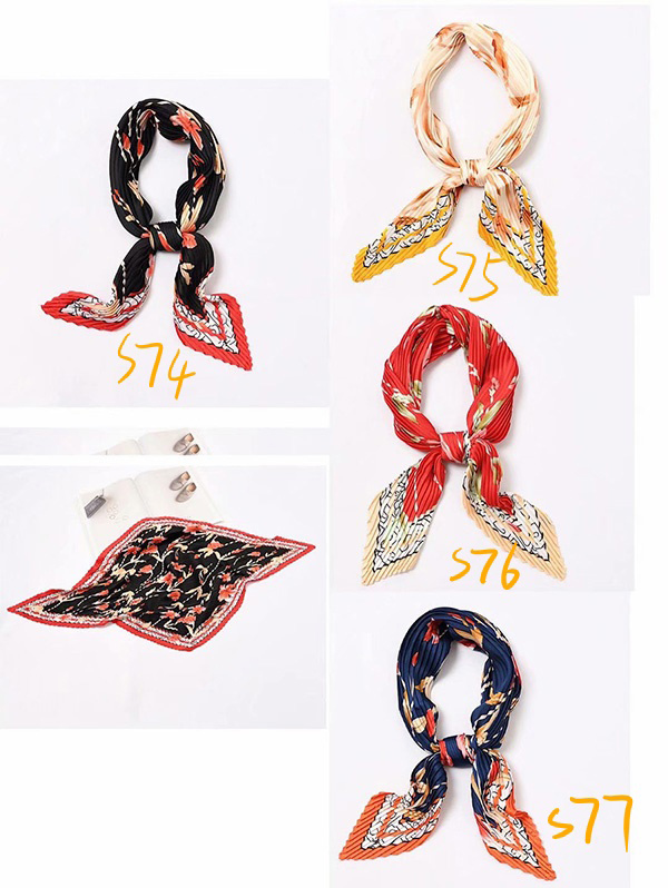China pleated women's silk scarf gifts