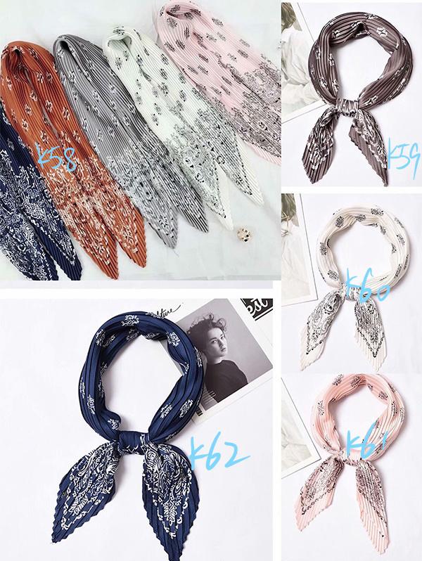 Italian pleated women silk scarf gifts