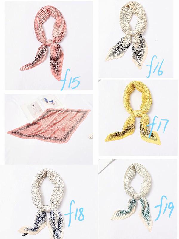 Wholesale pleated fashion women silk scarf