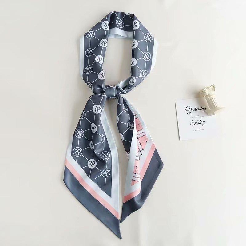 Satin Head Hair Handbag Handle Highlights Scarf Tie Bundle