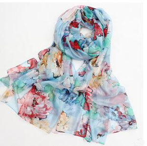 Abstract large flower joker chiffon scarves wholesale