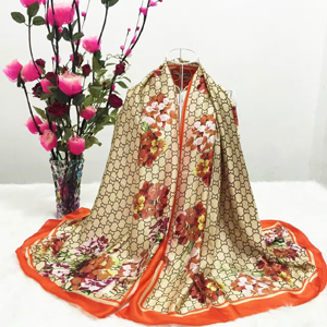 Color printing female dyeing silk scarf wholesale