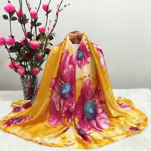 Colorful flowers silk scarf wholesale