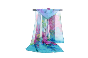 Female color chrysanthemum chiffon scarf wholesale
