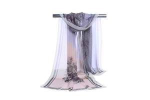 Female snow trees chiffon scarf wholesale