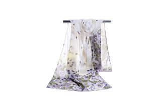 Female color printing chiffon scarf wholesale