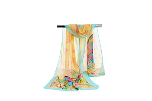 Female color butterfly chiffon scarf wholesale