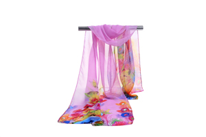 Female dyeing color chiffon scarf wholesale