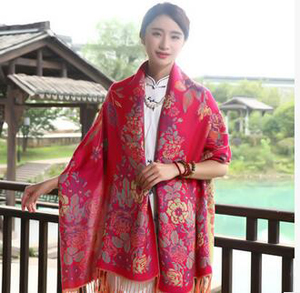 Joker long travel thin cotton national wind scarf wholesale