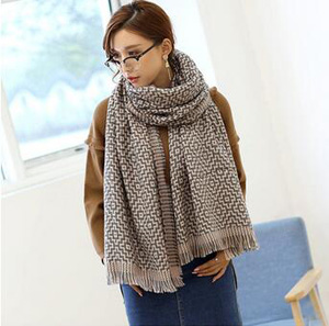 Geometry maze imitation cashmere scarf wholesale