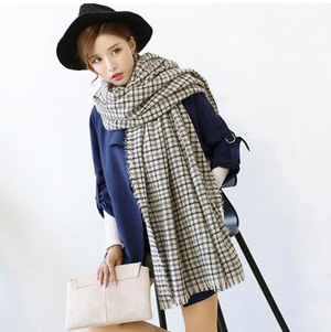 Grid imitation cashmere shawl wholesale