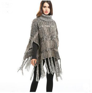 High collar tassel warm cloak shawl scarf wholesale