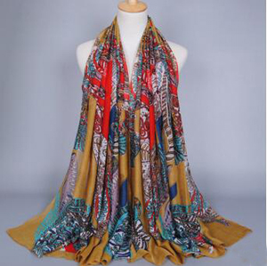 Cashew flower encryption voile scarf wholesale