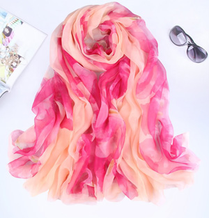 Hand painted silk scarf wholesale