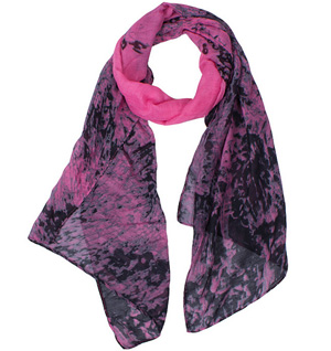 Viscose and polyester scarf