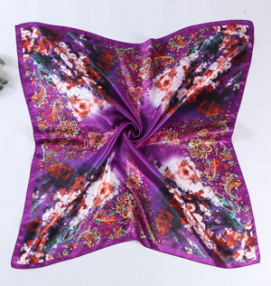 Silk scarves with floral